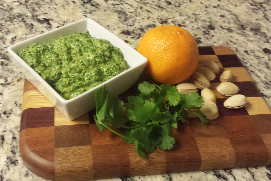 Love Your Heart: Pistachio Mint Pesto