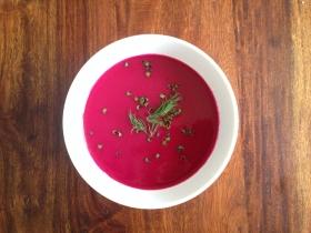 Chilled Beet and Apple Soup