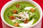 Chilled Pea Soup with Crab Meat and Citrus Yogurt Recipe