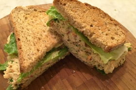 "Recipe: Tuna Salad with Chickpea ""Mayo"""