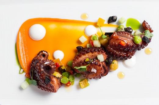 Warm Spanish Octopus Salad Health Facts | Dish Nutritional Information