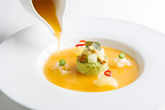 The Chilled Melon Soup, gluten-free and locally sourced